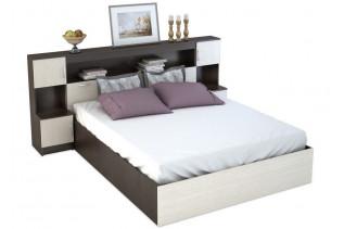 BASKA posteľ so záhlavím 160x200 KP-552, dub belfort