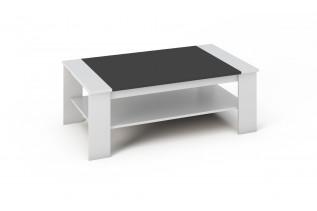 BARNY konferenčný stolík biela a čierna