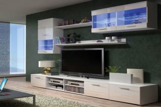 SIMA, moderná obývačka biela lesk