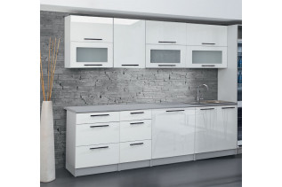 Kuchyňa ANDY 260 cm, biely lesk