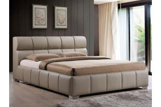KOLONIA čalúnená posteľ 160x200, cappucino