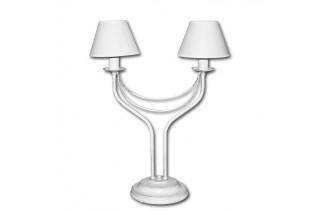 BONA, stolná lampa Lis 4348B-PR - strieborná patina