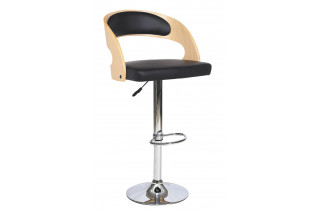 CB-091 barová stolička, dub/čierna