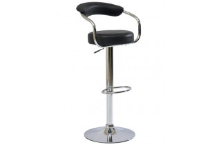 KROKUS C231 barová stolička, P05-čierna ekokoža.