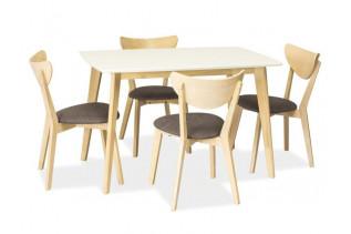 KOMBO jedálenský stôl, dub bielený/biely