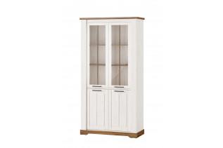 COUNTY 12 vysoká vintage 2-dverová vitrína