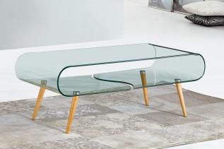 RUBELI sklenený konferenčný stolík