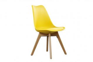 CROSS jedálenská stolička, žltá