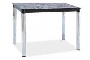 Jedálenský stôl TAMAR, čierna/chróm