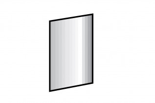 MALLA zrkadlo 919 strieborná jedľa - nákres