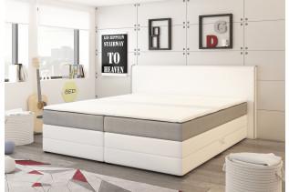 MICHIGAN manželská posteľ 180 s matracom a ÚP biela/šedá