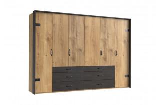 DERO 254/444 šatníková skriňa 6-dverová s kovaním