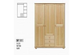 SF101 Šatná skriňa 3-dverová