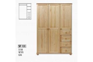 SF108 Šatná skriňa 3-dverová
