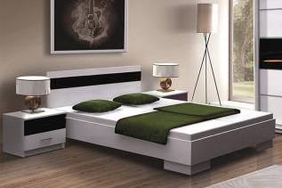DUBLIN posteľ 160x200, biela/čierna
