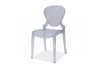 ELMA jedálenská stolička, transparentná