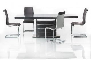 FANY jedálenský stôl, šedý lesk