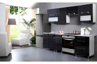 GALAXIA kuchyňa 240 cm, čierna