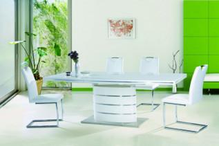 Jedálenský stôl FANY, biely
