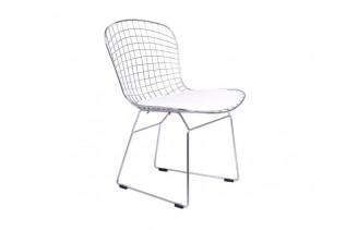 ALFINO jedálenská stolička, chróm/biela