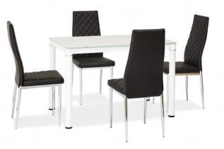GALON rozkladací jedálenský stôl, biely