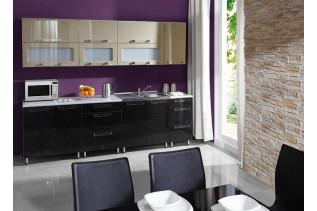 GALAXIA kuchyňa 260 cm, zlatá-čierna