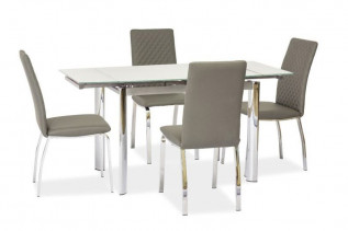 GT-019 rozkladací jedálenský stôl, biely