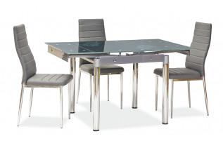 Rozkladací jedálenský stôl šedý