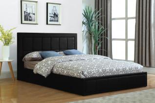 SNOOPY čalúnená manželská posteľ 160, čierna