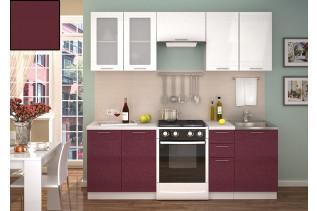 Kuchyňa na mieru GRÉCKO granát metalic/korpus biely