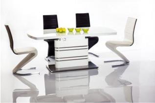 GUCI jedálenský stôl, biela/biely lesk