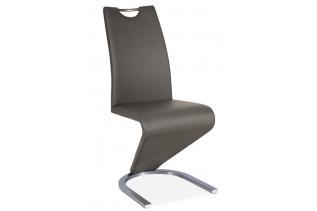 HK-090 jedálenská stolička, sivá/kartáčovaná oceľ