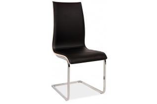 Jedálenská stolička HK-133, čierna/sonoma