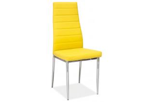 Jedálenská stolička VERME, žltá