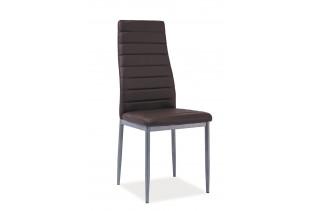 VERME jedálenská stolička, tmavohnedá/alumínium