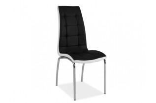HK-104 stolička, čierna/biela