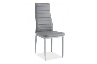 VERME jedálenská stolička, šedá/alumínium