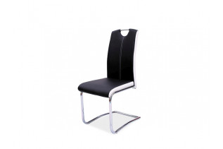 HK-341 jedálenská stolička, čierna/biela