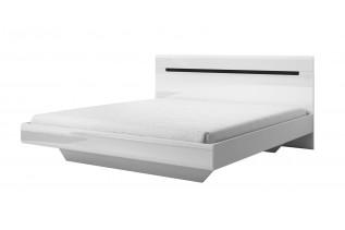TOKHER 32 manželská posteľ 180, biela/biely lesk