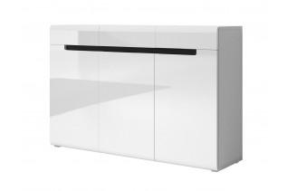 TOKHER 43 moderná komoda, biela/biely lesk