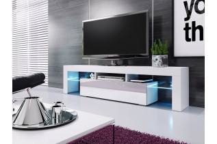 RIVA televízny stolík, biela