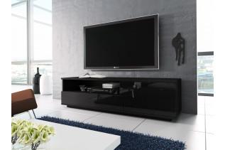 TV2 televízny stolík, čierna /čierny lesk