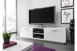 MIKI MINI televízny stolík, biela/bielylesk
