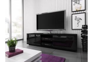 MIKI MINI televízny stolík, čierna /čierny lesk
