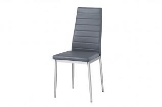 Jedálenská stolička HRON 4, šedá/chróm