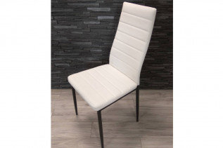 Jedálenská stolička HRON III, biela/čierna
