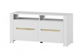ICON 21 2-dverový TV stolík v bielom lesku