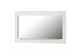 ICON 30 široké závesné zrkadlo, biely lesk