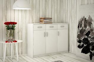 ANES komoda 3D3S, biela