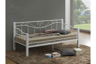 Jednolôžková posteľ DENIA, biela/biela
